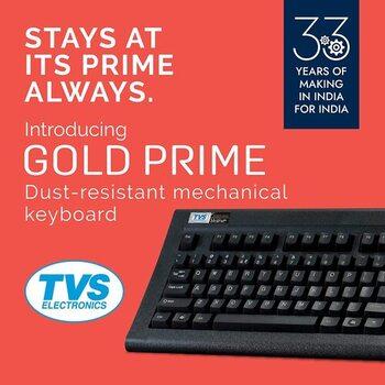 TVS gold Prime keyboard Review